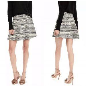 Banana republic jacquard skirt mini  size 12P